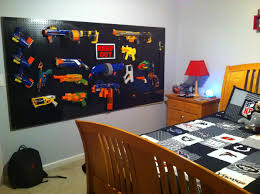 nerf gun storage i like how it looks clean and organized boys