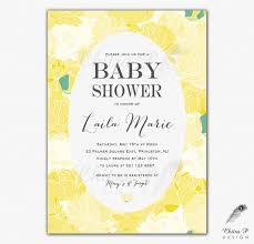 baby brunch invitations yellow baby shower invitation printed or printable daffodil