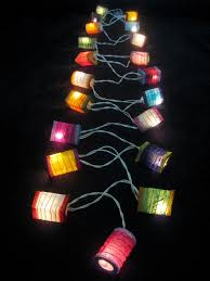 20 multicoloured battery operated mini led string paper