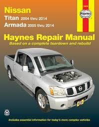 Nissan Titan 04 14 U0026 Armada 05 14 Haynes Repair Manual