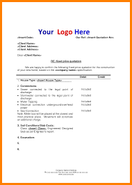 resume template sle electrician quote 3 quotation letter format students resume