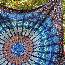 Livingroom Yoga Amazon Com Handmade Cotton Mandala Bedspread Throw Bohemian