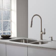 kraus one handle single hole kitchen faucet reviews wayfair with