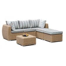 Sofa Set Table Tan Wicker Sofa With Ottomans