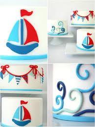 nautical cake trio of diy nautical cakes using sugar paste fondant party ideas