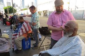 silver lake love gives haircuts to our homeless veterans on