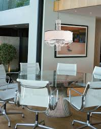 impressive white chandeliers for dining rooms contemporary crystal