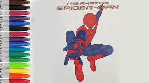 the amazing spiderman coloring pages let u0027s show spiderman fun