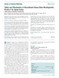 safety and effectiveness of recombinant human bone morphogenetic