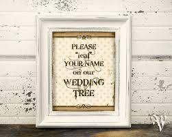 instant download wedding sign please leaf your