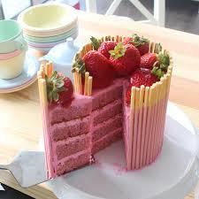 Cake Strawberry Pocky Cake Recipe Tastemade