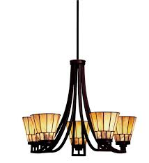 glamorous morton arts crafts style chandelier lamps lighting of