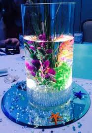 Sweet 16 Table Centerpieces Love Led Lights In Vases Create This Awesome Look Click On