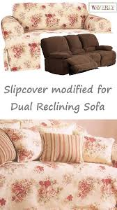 Reclining Sofa Slipcover Reclining Sofa Slipcover T Cushion Waverly Vintage Floral