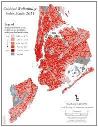New York Neighborhood Map by High Resolution Neighborhood Walkability Measures Built