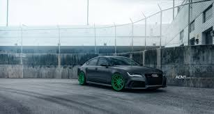 matte teal car audi rs7 drops the mic on matte green custom wheels