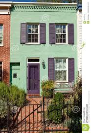 washington row house home italianate style fence stock photo