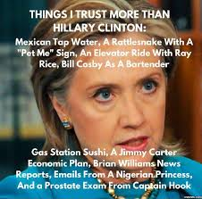 Clinton Memes - things i trust more than hillary clinton the truth pinterest
