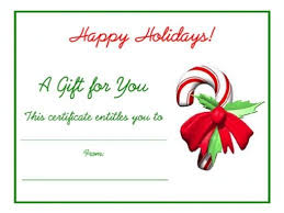 holiday gift certificate template free printable printable