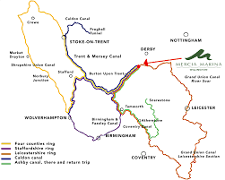 Derbyshire England Map by Canal And River Cruising Routes In South Derbyshire Mercia Marina