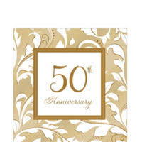50th wedding anniversary plates golden 50th wedding anniversary party supplies 50th anniversary