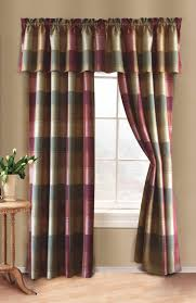 Curtain Panels Plaid Curtain Panel Curtain U0026 Bath Outlet