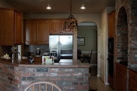 Kitchen Brick Backsplash Interior Brick Floor Others Beautiful Home Design