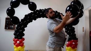 Balloon Arch Decoration Kit How To Make A Simple Mickey Mouse Balloon Arch Decoration With