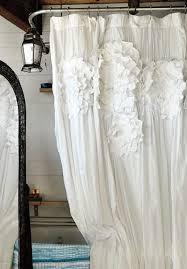 Ruffle Shower Curtain Anthropologie Sculpted Mums Shower Curtain Via Anthropologie Home