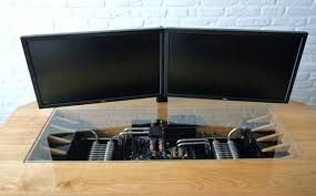 bureau informatique en bois bureau informatique design metal et verre adonie mee bure