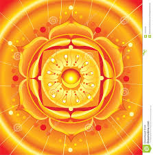 bright orange mandala of svadhisthana chakra royalty free stock