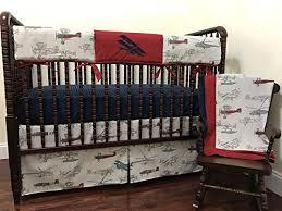 Airplane Crib Bedding Nursery Bedding 1 5 Bumperless Baby Crib Bedding Set