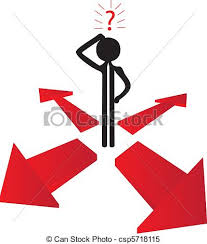 where to go with the question clipart vector