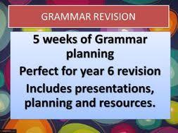 year 6 grammar booster plans by raphella teaching resources tes