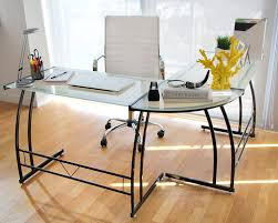 Black Glass L Shaped Desk by Amazon Com Lumisource Ofd Tm Bitdbl B Gamma Desk Black Frame