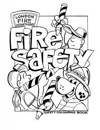 fire safety coloring pages preschool coloring pages kids