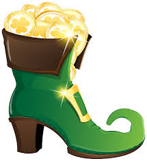 leprechaun shoe with gold coins png clipart image gallery