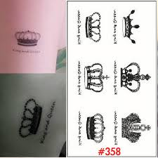 1 sheet elegant queen crown tattoo design temporary tattoo