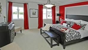 Grey Red Curtains Not To Crazy About The Black And Red But My Husband Loves It