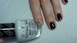 o p i glitter off natural nail peel off base coat demo youtube