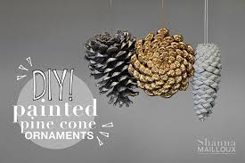 diy painted pine cone ornaments beautiful matters