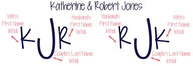 last name monogram monogram etiquette