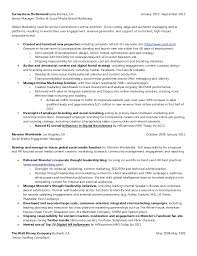 Monster Com Resume Samples by Resume Content Marketing Social Media Employer Branding