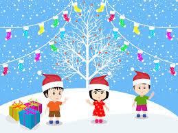 merry with happy vector stock vector illustration