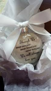 baby memorial miscarriage ornament though we by shopcreativecanvas
