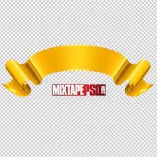 logo ribbon free gold ribbon psd template mixtapepsd