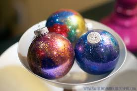 Glitter Christmas Ornaments Mop And Glo by Glitter Galaxy Ornament Diy