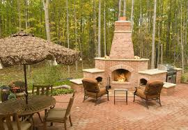 fire chimney for deck backyard