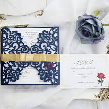 and the beast wedding invitations navy blue and the beast laser cut wedding invitation cards