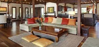 Bali Style Interior Design Of A Tropical Living Room - Tropical interior design living room